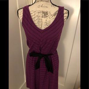 Elle Purple Eyelet Dress Size XS